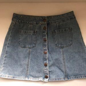 Brandy Melville size 27 button up denim skirt